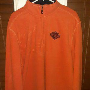 Harley Davidson 2XL Orange Pullover Sweater
